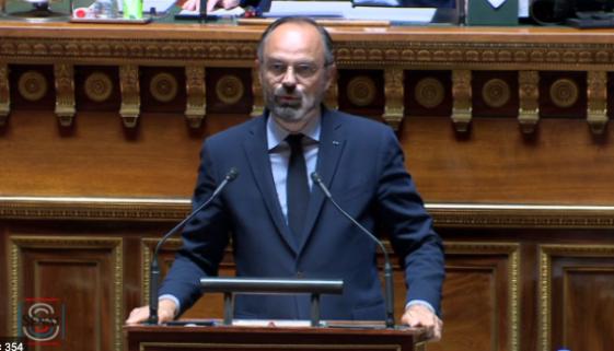 Edouard Philippe au sénat éxonération charges